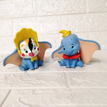Disney Dumbo Elephant cartoon Anime Figure 10cm PVC Action Toys for Children Birthday party Gifts 2DS19