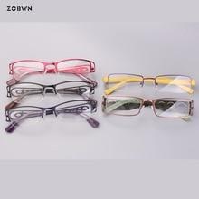 Mix models wholesale women glasses half rim metal frames TR90 legs Fashion Women carro Clear Lens Personality monturas de gafas