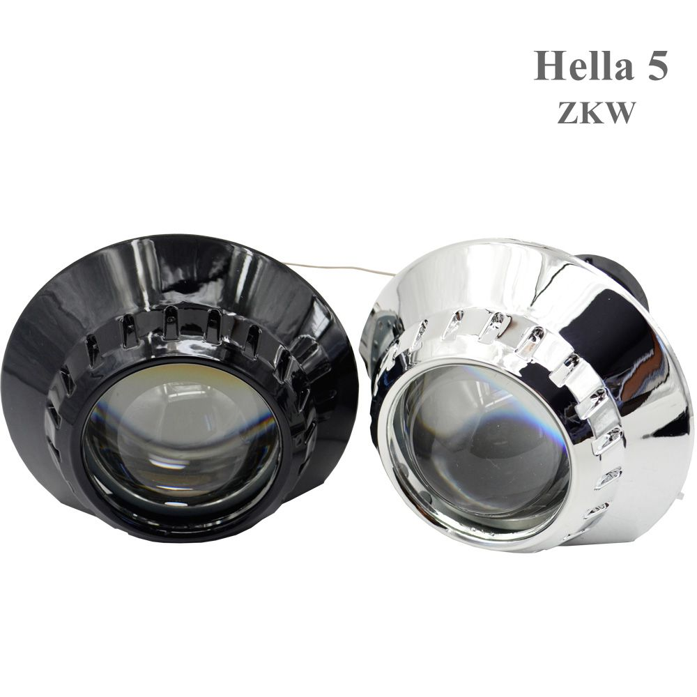 2pcs 3.0 inch hella 5 Bixenon hid Projector lens with square angel eyes white led day running headlight car headlight  hid xenon 2 5 inch h1 h7 9005 9006 bixenon projector lens for motorcycle auto headlight with ccfl angel eyes bule yellow red white purple