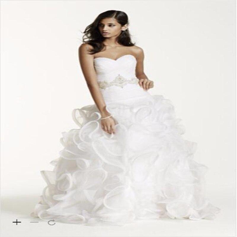 Wedding Ball Gowns Sweetheart Neckline: 2016 Organza Ball Gown Wedding Dresses Sweetheart Neckline