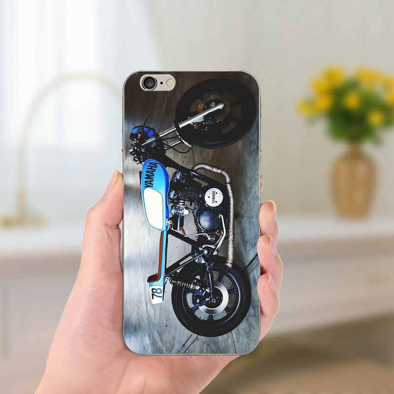 Мягкие ТПУ Силиконовые чехлы для телефонов Ретро мото внедорожный мотоцикл спортивные чехол для iPhone 8 7 6 6 S Plus X 5 5S SE 5C 4 Shell Coque Funda