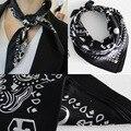 53*53 CM 100% de Seda Verdadero de la Marca de Lujo de Las Mujeres Cuadradas Bufanda Hijab Cubo/Flor/Caballo Impresa bufandas Chales Foulard Femme S6