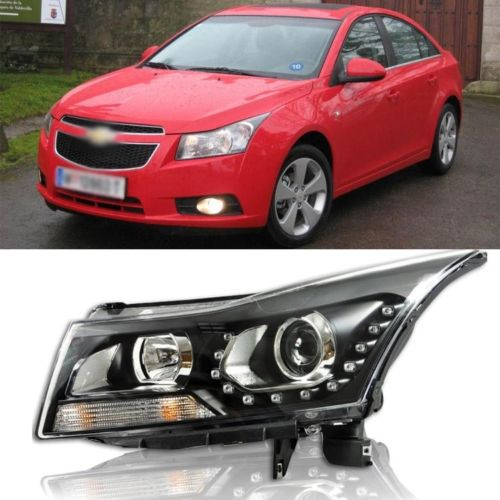 Ownsun Innovative U-Shape LED DRL Headlight Xenon Angel Eye Projector for Chevy Cruze ownsun superb u shape led headlight angel eye projector lens for vw tiguan 2010 2012 model