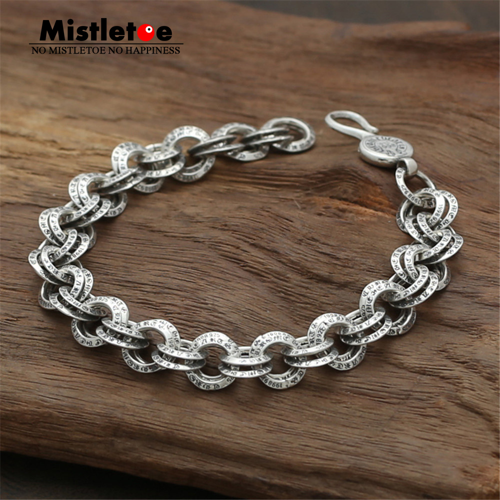 Authentic 925 Sterling Silver Vintage Punk Locomotive Link Bracelet For Women & Men JewelryAuthentic 925 Sterling Silver Vintage Punk Locomotive Link Bracelet For Women & Men Jewelry