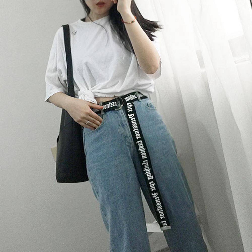 Women Men Casual White Leather Belt Long Waist Ladies Trouser Belt Fashion Yellow Female Harajuku Belt Ccessories