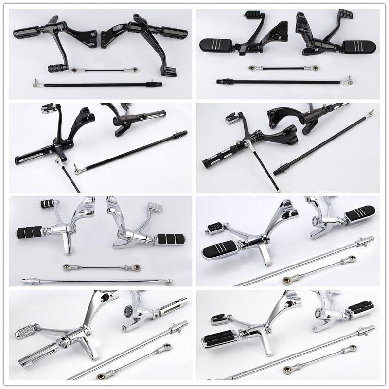 Motorcycle Motorbke Forward Control Pegs Lever Linkage For Harley Sportster XL883 XL1200 Iron 883 XL883N 14