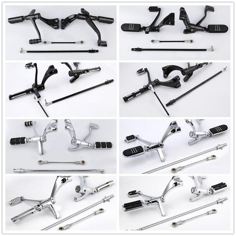 Motorcycle Motorbke Forward Control Pegs Lever Linkage For Harley Sportster XL883 XL1200 Iron 883 XL883N 14-18