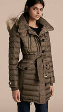 New Arrival Women Warm Down Coat Fashion Winter Long Sleeve Coat With Fur Collar M1165