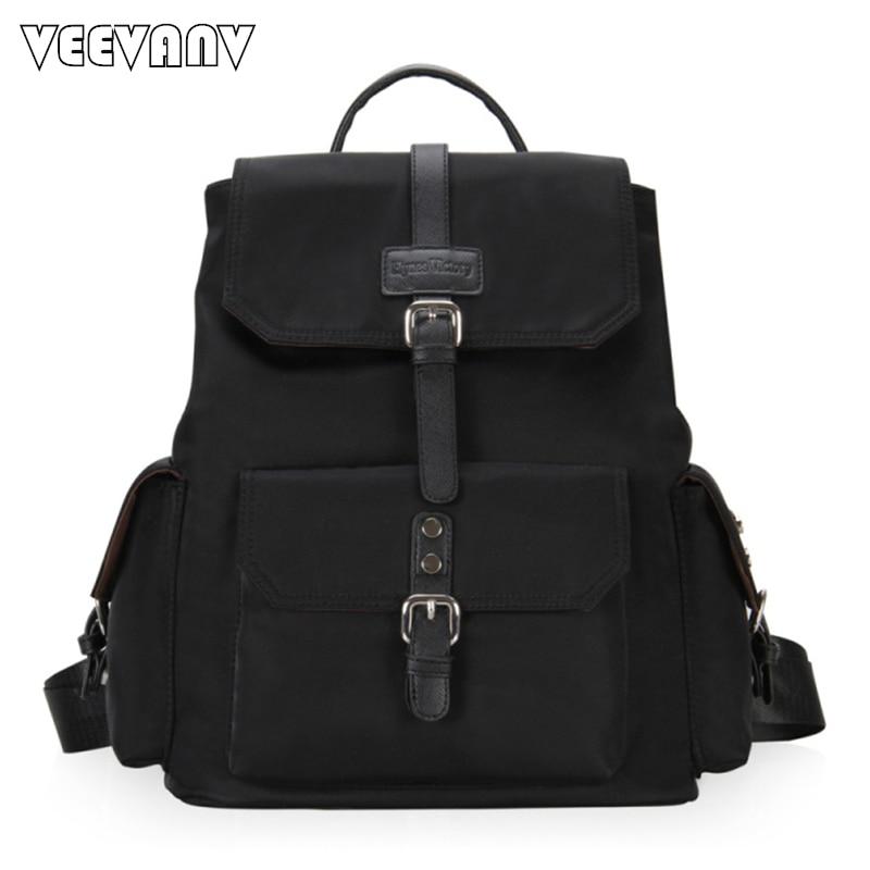 2017 Fashion Designer Leather Women Backpack School Backpacks for Girls Teenage Nylon Laptop Backpack Female Travel