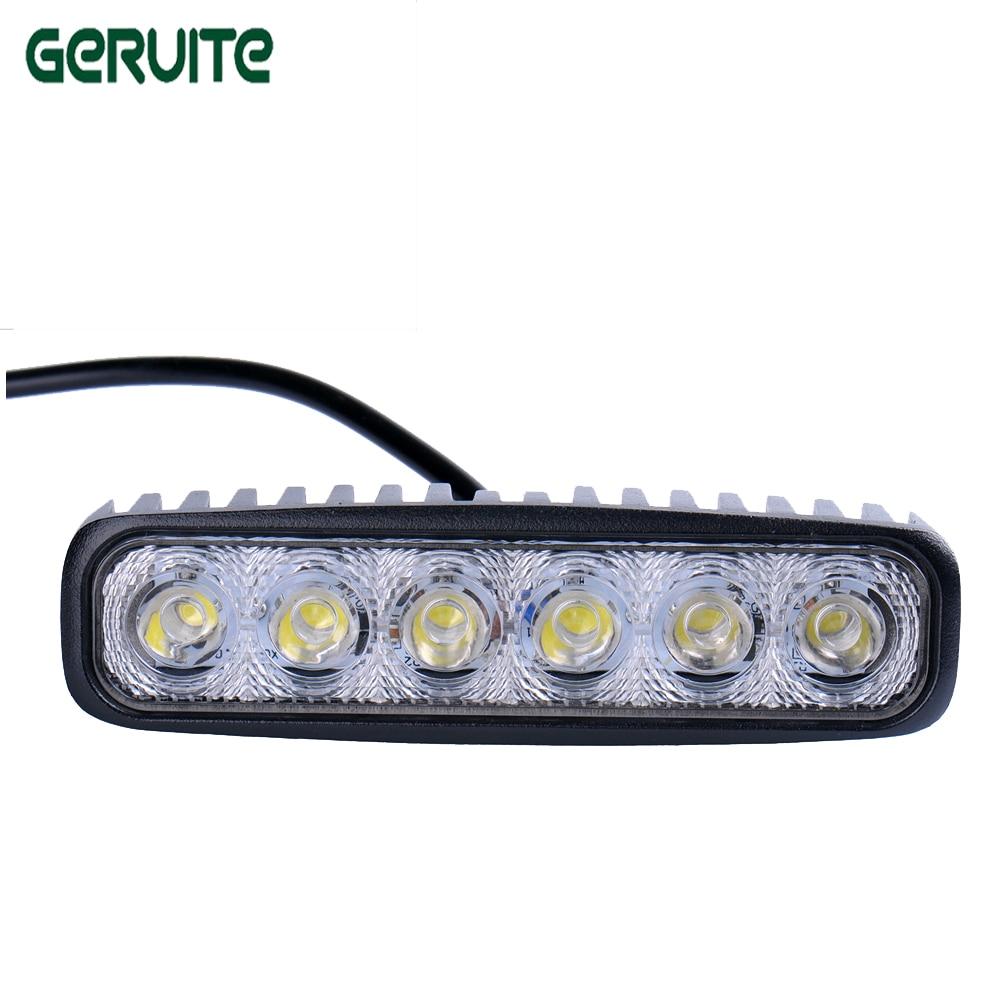 Prix pour 2 PC LED 12 V 18 W 6000 K Voiture Led Conduite de Jour Running Light 6LED DRL Brouillard Lampe pour voitures Étanche Lumière Blanche