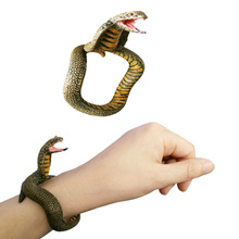 DIY Simulation Snake Bracelet Toy PVC Cobra Python Hand Painted Halloween Funny Pranks Toy Simulation Snake Model Bracelet Toy grenade props ammo game bomb launcher blast replica military military black simulation hand gags pranks toy kids gifts