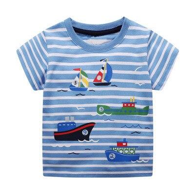 VIDMID T-Shirt Dinosaur Print Tees Tops Short-Sleeve Baby-Boys Kids Cotton Children Cartoon