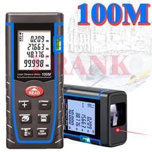 Telémetro láser telémetro láser digital medidor de distancia 40 M/60 M 80 100 M dispositivo láser cinta métrica gobernante ángulo de volumen herramientas