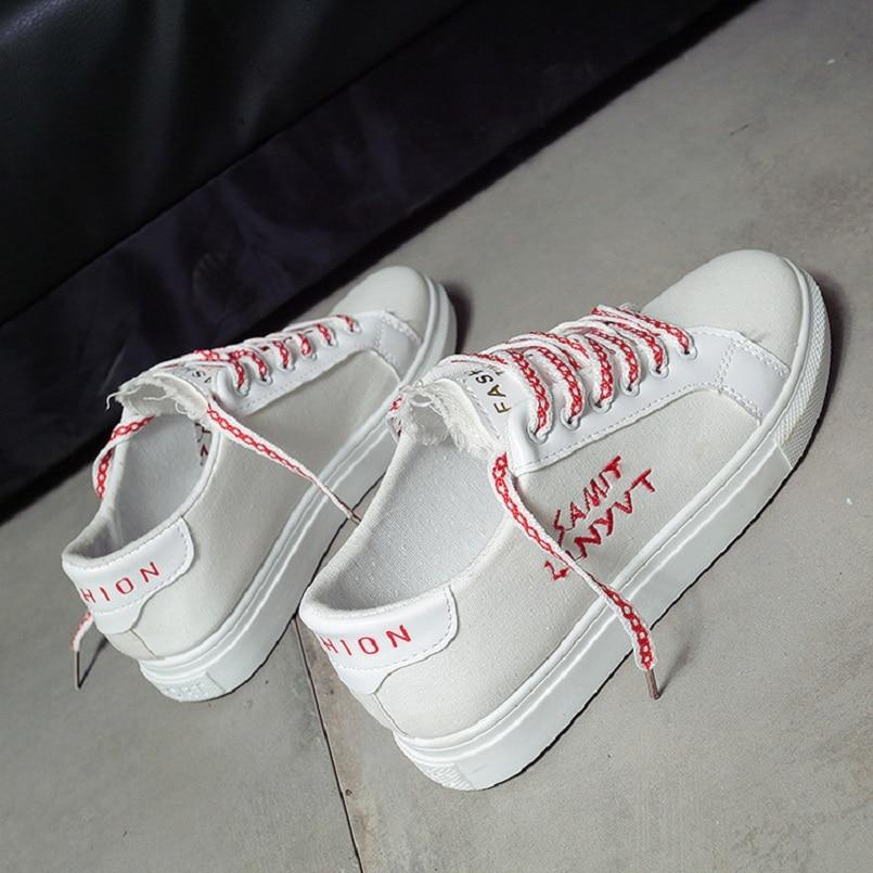 Chaussures Qualité Toile Plate E2850 Femmes Tissu b forme Zapatos Douce Cool A Lady Casual Plat Haute Femme c Blanc Mujer De Mignon E4Fqqxw0B