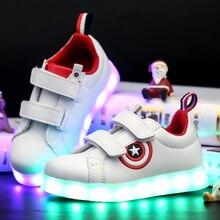 2017 новая мода дети usb аккумуляторные светодиодные светящиеся дети повседневная shoes мальчиков и девочек свет светящиеся кроссовки