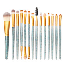 BEAUTY MAKEUP Glitter Makeup Brush Set tools Make-up Toiletry Kit Shiny Brushes Set 15Pcs pinceis de maquaigem