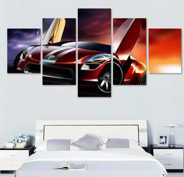unframed modern car canvas art wall modular pictures printed oil painting for living room home decal