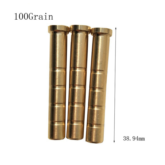 12pcs Archery Copper Base 100/150/200/250/300Gn Insert Connecting Arrowhead Copper Base for ID6.2mm ArrowShaft Hunting Accessory