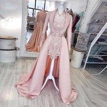 Уникальные Розовые прямые платья до колена для выпускного вечера с пальто V образным вырезом полный кружевной атласный жакет платье знаменитостей Короткие вечерние платья