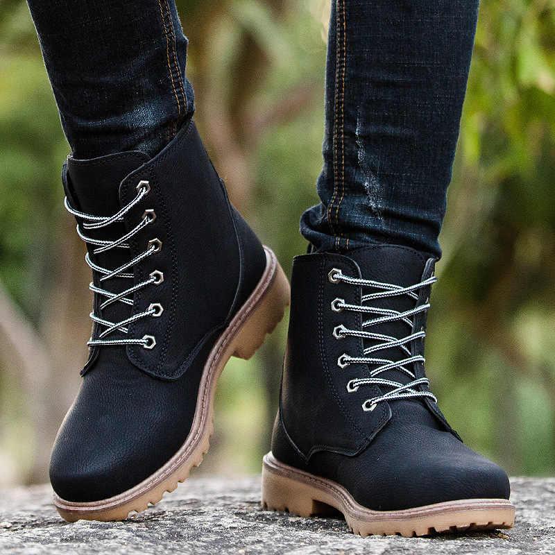 """Ipccm брендовые Весенние/Новая Осенняя Корейская версия Размеры модные """"Мартин"""" сапоги Для мужчин, дышащая обувь; Прочная обувь в английском ретро-стиле рабочие ботинки"""