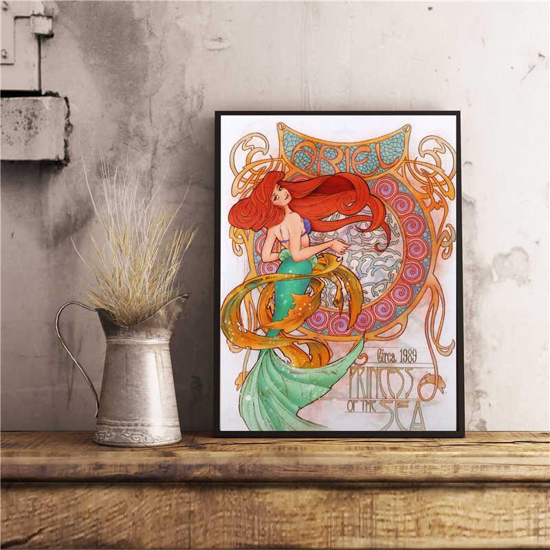 Kucuk Deniz Kizi Prenses Ariel Tuval Posterler Baskilar Duvar