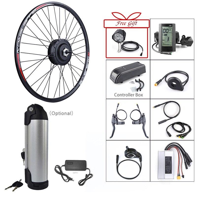 Bafang 36V 350W brushless gear rear hub motor electric bike conversion kit for 20 26 27