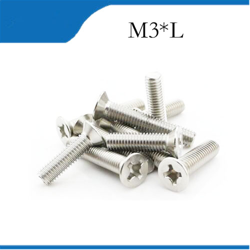 50pcs M3 Screw M3x4/5/6/8/10/12mm Match M3 Copper Cylinder M3 Parafuso Tornillos High Quality 50 pcs nylon pa66 head screw silvery white screws 5 types m3 4 m3 5 m3 6 m3 8 m3 10 m3 12 philip plain tools