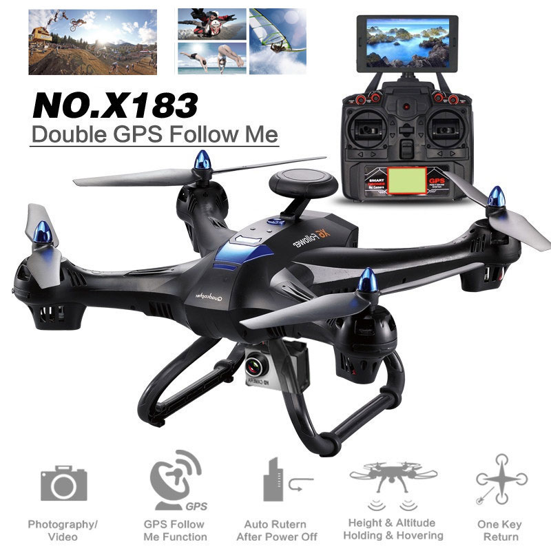 2018 New Drone Professional Intelligent 120 Degree FOV Wide Angle Automatic Return 5G WiFi FPV 720P/1080P Camera GPS Quadcopter
