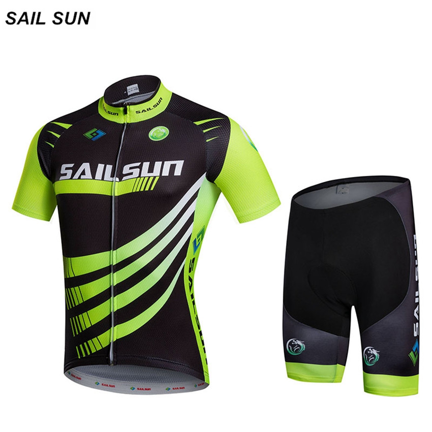 SAIL SUN Bike Cycling Clothing/Cycling Jersey Sets With Bib 2016 New Style Bicycle Summer Short Sleeve Outdoor Sportswear santic mens summer short sleeve cycling jersey sets racing sportswear cycling bicycle bike outdoor cycling bike clothing sets