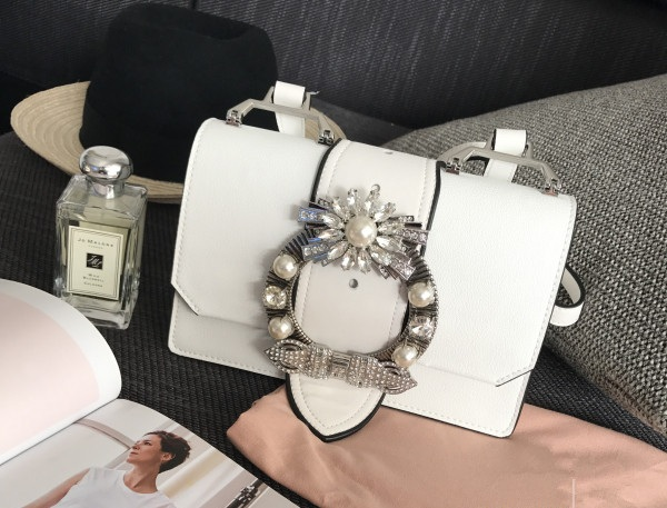 HOT summer 2017 fashion women genuine leather pearl sequined diamonds shoulder bag mini flap high quality