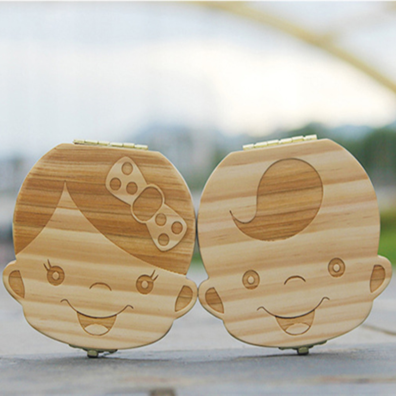 High - grade baby tooth deciduous toothboxes preservation of creative wooden gifts children solid wood teeth boxes