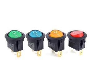 Image 3 - BỘ 5 12V 220V LED illuminuted đính đá công tắc 20A 12V nút ấn công tắc Xe nút đèn/TẮT Vòng đèn