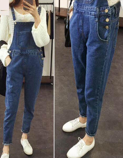 2015 hot maternity clothes adjustable waist denim jeans pant pregnant women bib capris overalls for women trousers