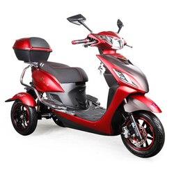 Электрический скутер, литиевый аккумулятор для трицикла, эффективный, 29 км/ч, красный и черный, для мотоцикла, удобный, для взрослых, для люде...