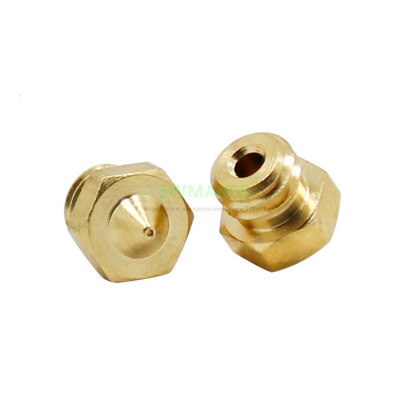 1pcs Double Colors Nozzle 0.2mm  0.3mm 0.4mm Copper Nozzle 1.75mm Filament M5 For Cyclops Extrusion 3D Printers Parts