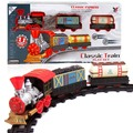 Classic Railroads Transport Train Toys Electric Rail Train Models Track Toy for Kids with Retail Box