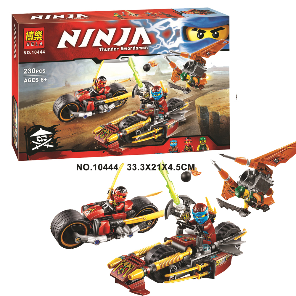 Ninjagoingly figures Bike Chase Building Blocks Set Kai Nya Sqiffy Brick set Toys for children Compatible with playmobil 70600