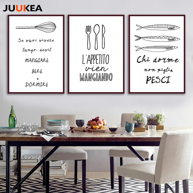 Makanan Dapur Panggang Hitam Putih Desain Minimalis Seni Kanvas Cetak Lukisan Poster Gambar Dinding Untuk