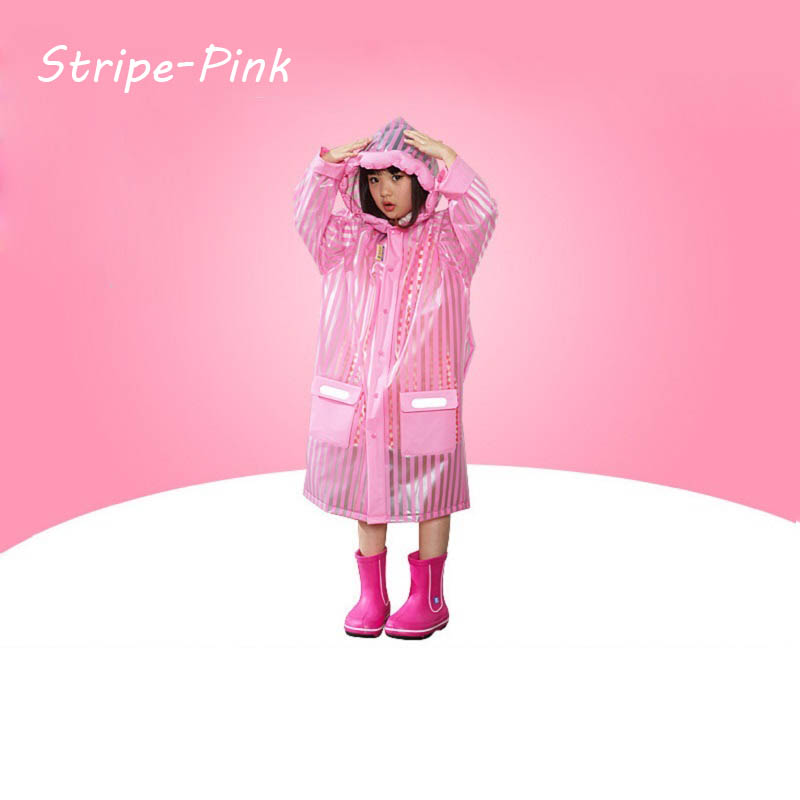 50pcs Children Raincoat 2016 New Cartoon Girl Boy Kids Students Bicycle Poncho Rain Coat Waterproof Rainwear For Outdoor  ZA0604