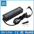 20V 3.25A 65W AC Adapter Laptop Charger For Lenovo Y330 K26 K29 U310 U300 Power Supply Cord 5.5mm*2.5mm