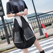 QINRANGUIO 숄더 가방 여성을위한 새로운 디자인 여성 가방 패치 워크 정품 가죽 Crossbody 가방 2020 가죽 핸드백