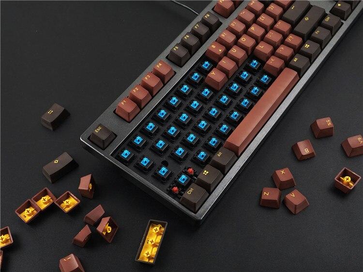 108 pcs/pack Akko X Ducky PBT Deux Couleur Key cap Mécanique clavier keycaps Chocolats/Horizon/Mid-nuit /Clown/Reine