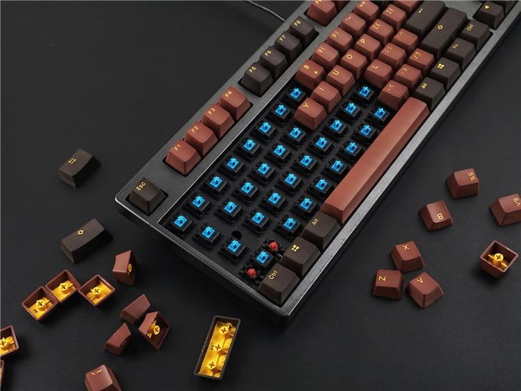 108 pz/pacco Akko X Ducky PBT A Due Colori cap Key tastiera Meccanica keycaps Cioccolato/Horizon/Mid-di notte /pagliaccio/Queen
