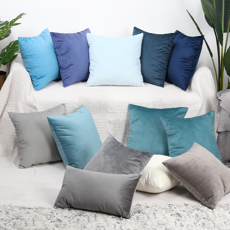 Peachy Us 2 84 5 Off Luxury Velvet Cushion Cover Pillow Cover Pillowcase Green Yellow Pink Blue White Black Gray Home Decorative Sofa Throw Pillows In Dailytribune Chair Design For Home Dailytribuneorg