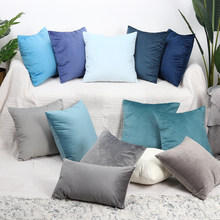 Luxury Velvet Cushion Cover Pillow Cover Pillowcase Green Yellow Pink Blue White Black Gray Home Decorative Sofa Throw Pillows(China)