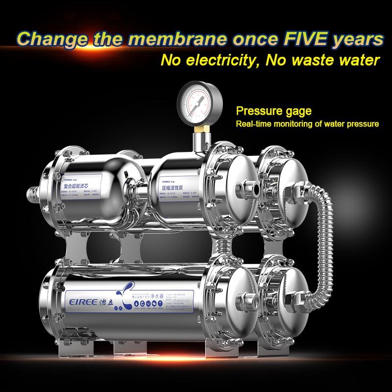Under sink Stainless steel 304 housing UF water purifier