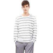 Cotton Long Sleeve Lovers Striped Pajamas Sets Women's Sleepwear Sleepshirts Sexy Men's Pajamas Homewear Fashion Clothing