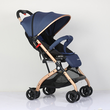 лучшая цена abdo baby stroller sit or lie Light Folding baby carriage Ultra-Light Portable Foldable umbrella baby trolley On The Airplane