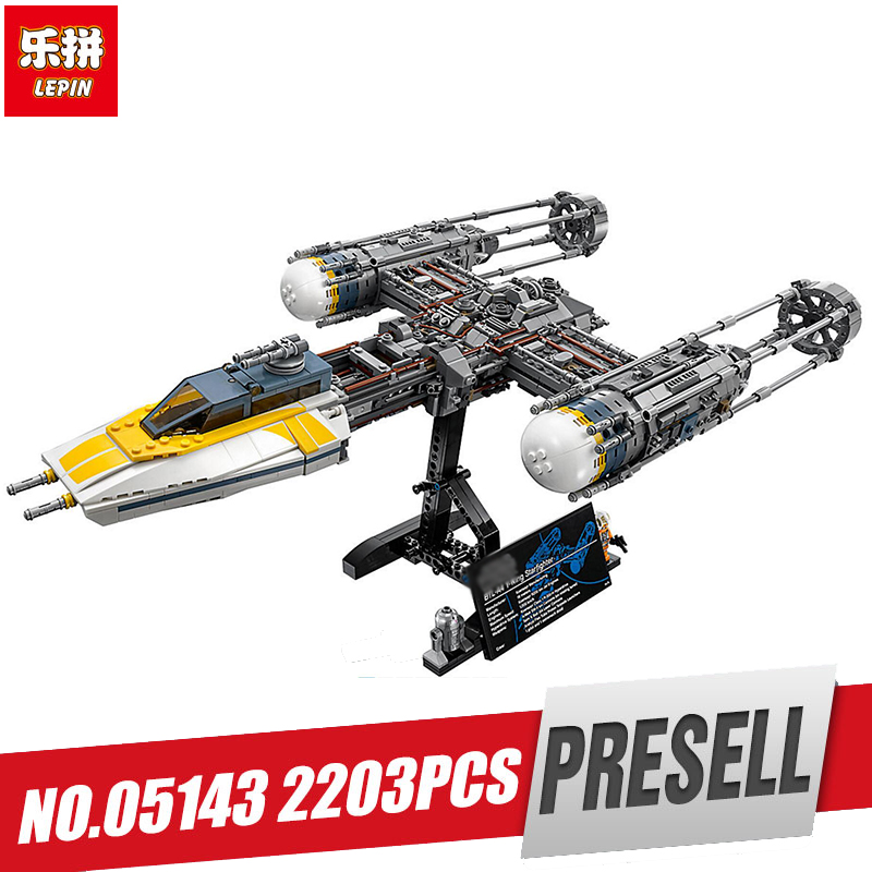 Lepin 05143 Star Plan Series The legoing 75181 New Y-wing Starfighter Set Model Building Blocks Bricks Toys for Kids As Gifts конструктор lepin star plan истребитель набу 187 дет 05060