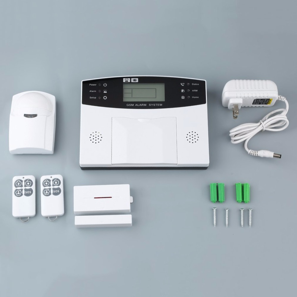 433 MHZ Wireless GSM Alarm Systems Security Home Security Anti-theft Smart Burglar GSM Alarm System With PIR Detector golden security wireless wired 433 mhz dual network gsm pstn alarm system home burglar security alarm system free shipping